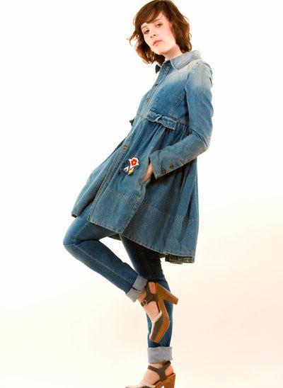 Джинсовое пальто на весну