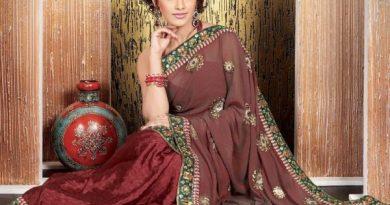 девушка в индийском сари