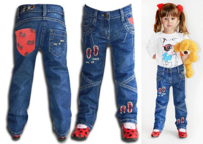 Детские джинсы особенности и стиль