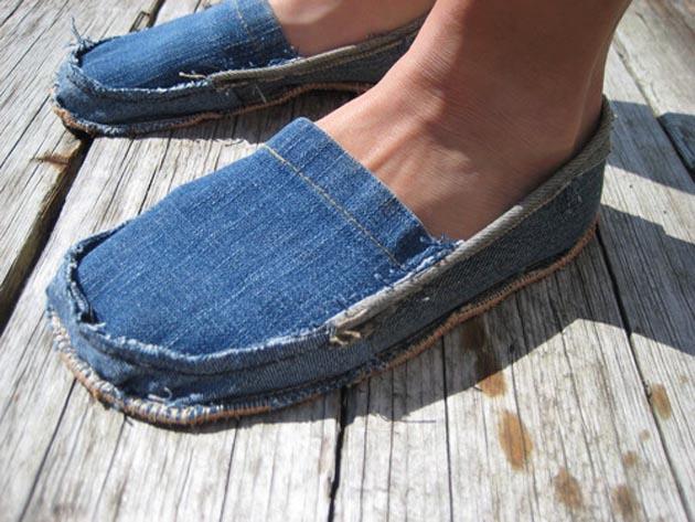 Что сделать из старых джинсов. Фото