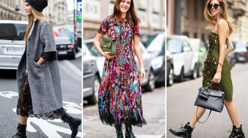 В платье и ботинках