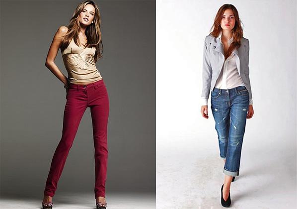 Узкие джинсы-скинни