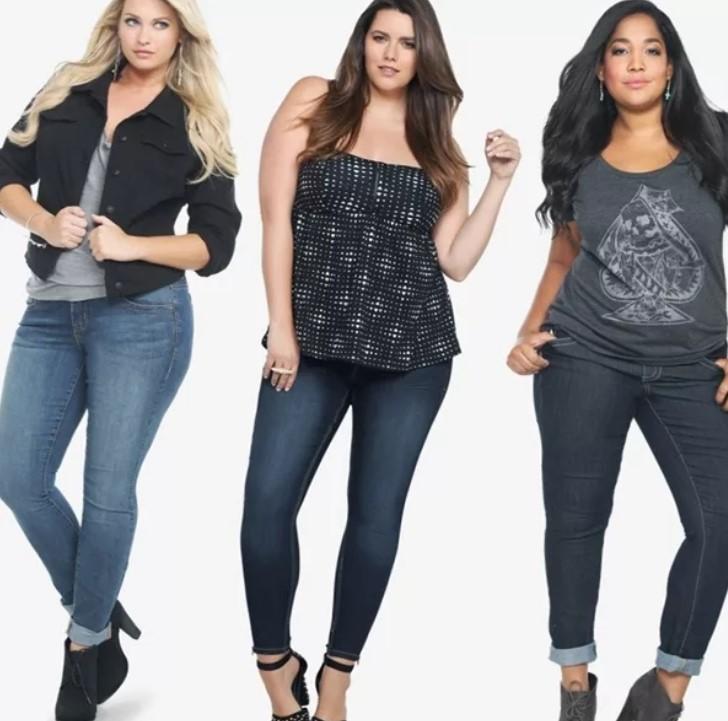 Узкие джинсы для полных девушек