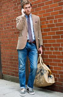 Пиджак под джинсы – модный мужской стиль