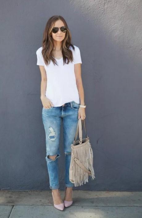 осить футболки с джинсами фото 2