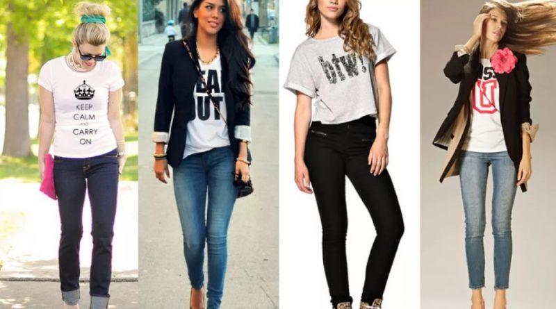Как носить футболки с джинсами