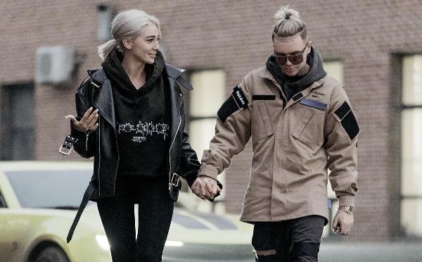 Элджей и Настя на прогулке