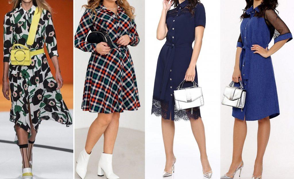 Модное платье-рубашка 2021